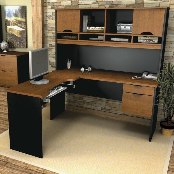 Innova 4 Piece L-Shape Desk Office Suite by Bestar