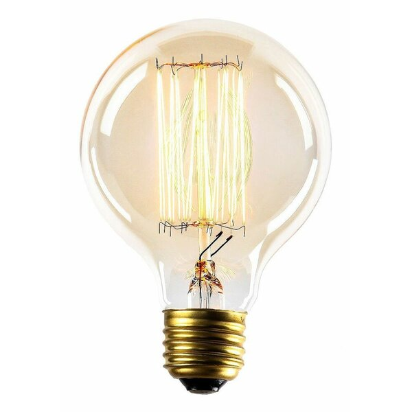 60W E26  Dimmable Incandescent Edison Light Bulb Amber by Newhouse Lighting