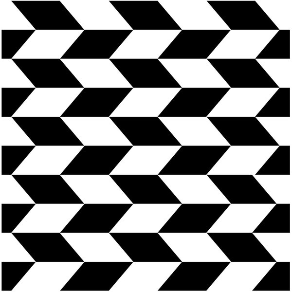 Gallery 7.75 x 7.75 Ceramic Field Tile in Montego Black/White by Mulia Tile