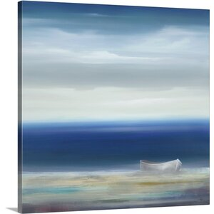 'Boat on Shore' by KC Haxton Painting Print on Canvas by Canvas On Demand
