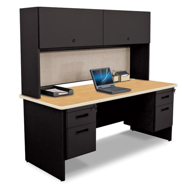 Pronto Credenza Desk with Hutch by Marvel Office Furniture