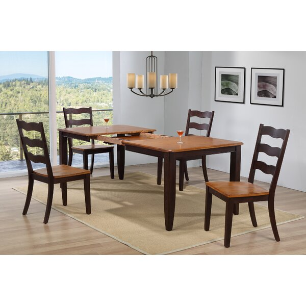 Muldowney Extendable 5 Piece Solid Wood Dining Set by August Grove