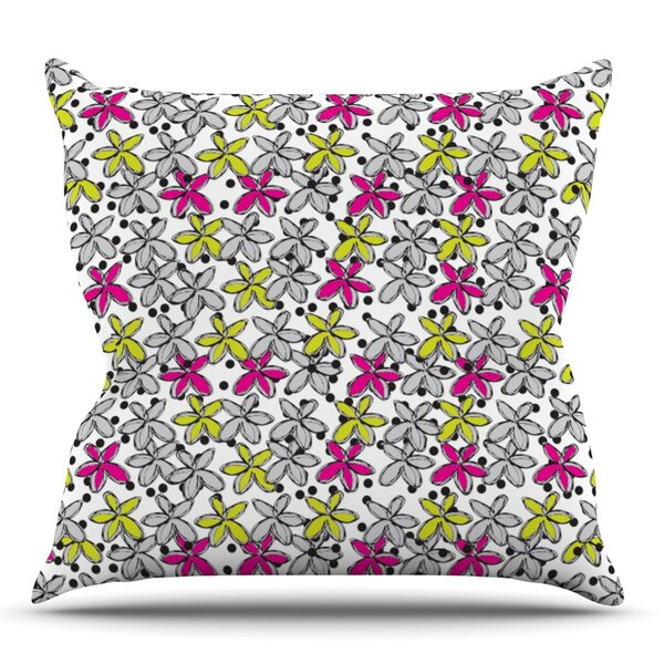 Floral Spread by Nandita Singh Outdoor Throw Pillow by East Urban Home