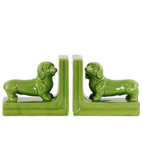 Ceramic Dachshund Dog Bookend (Set of 2) by Urban Trends