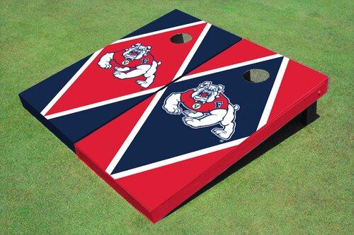 NCAA 10 Piece Diamond Cornhole Board Set by All American Tailgate