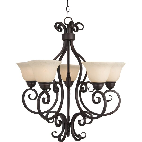 Amelia 5-Light Shaded Empire Chandelier By Darby Home Co