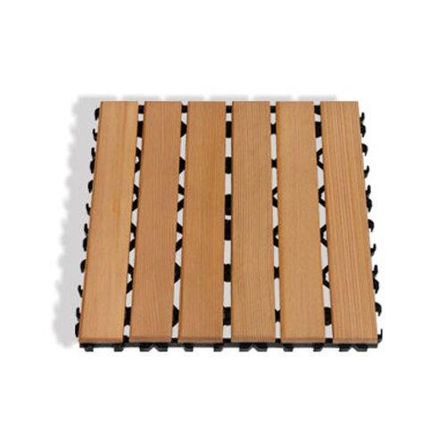 Cedar Floor Square by Premium Saunas