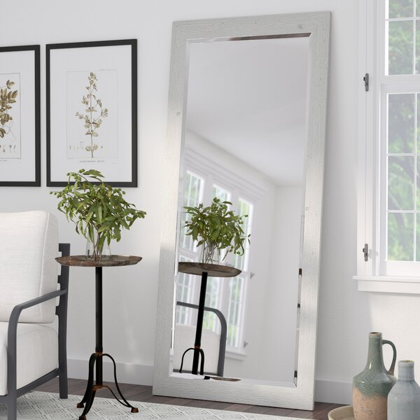 Joliette Rustic White Beveled Wall Mirror by Laurel Foundry Modern Farmhouse