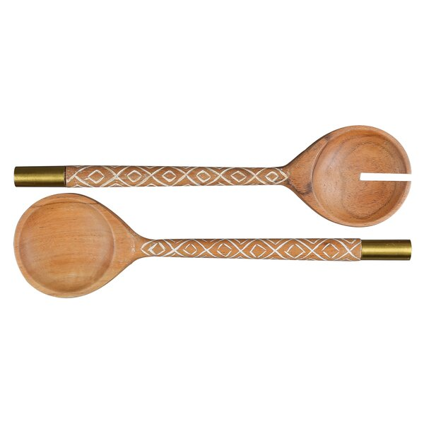 Emmaus 2 Piece Salad Server Set by World Menagerie