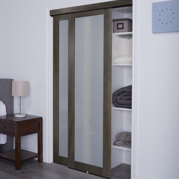 Baldarassario 1 Lite 2 Panel MDF Sliding Interior Doors by Erias Home Designs