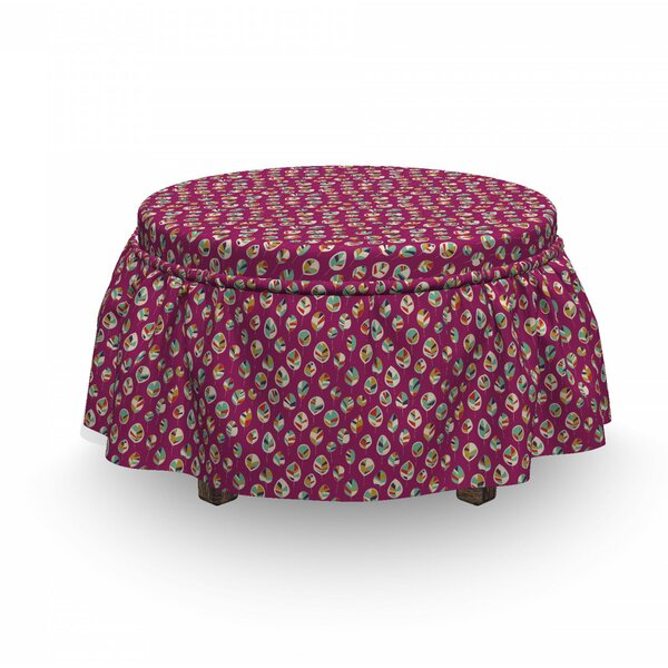 Seasons Nature Ottoman Slipcover (Set Of 2) By East Urban Home