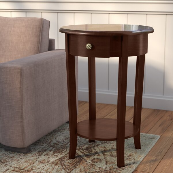 Grassmere End Table With Storage by Charlton Home
