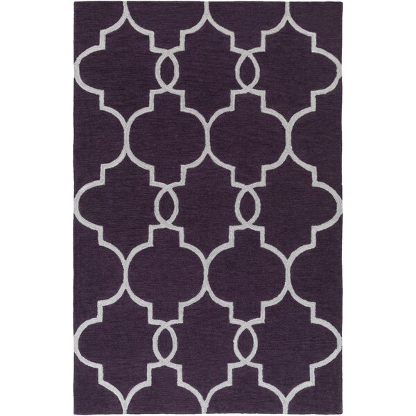 Hellwig Purple/Ivory Area Rug by Alcott Hill