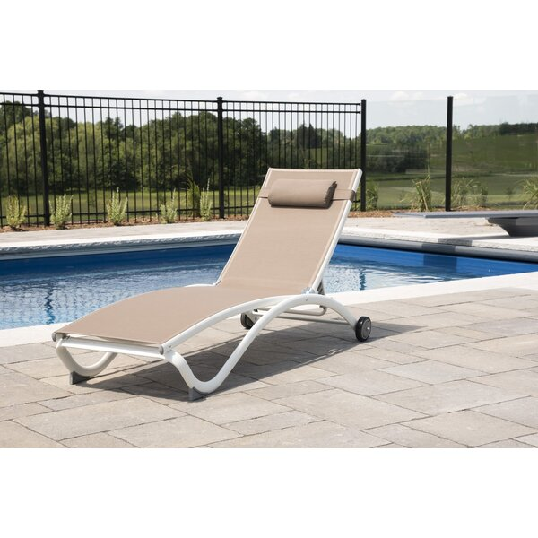 Burinskiy Reclining Chaise Lounge with Cushion by Ebern Designs