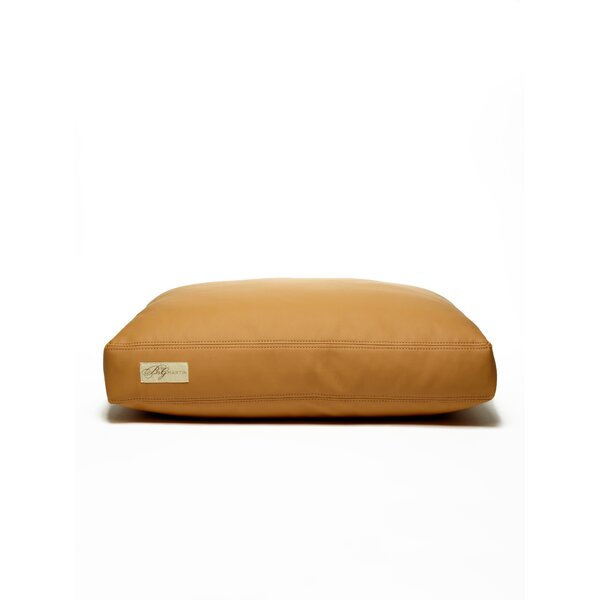 Faux Leather Foam and Faux Down Cushion Dog Bed by B&G Martin