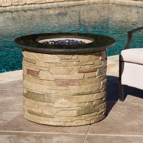 Stafford Stone Propane Fire Pit Table by Loon Peak