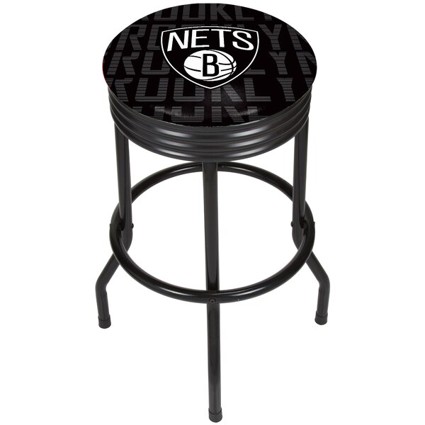 NBA City Ribbed 29 Swivel Bar Stool by Trademark Global