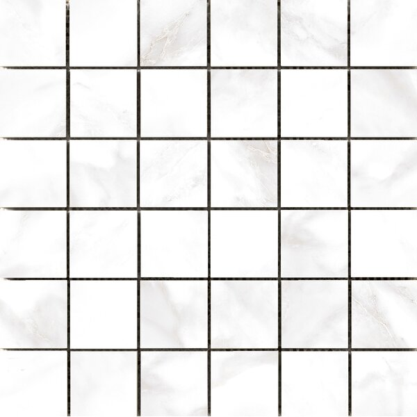 Residenza Glazed 2 x 2 Ceramic Mosaic Tile in Calacata by Emser Tile