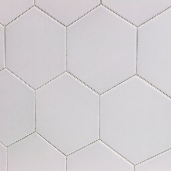 Bethlehem Hexagon 6 x 7 Ceramic Field Tile in Perla by Splashback Tile