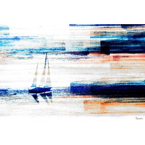 'Aegean Sea' by Parvez Taj Acrylic Painting Print on Canvas by Parvez Taj