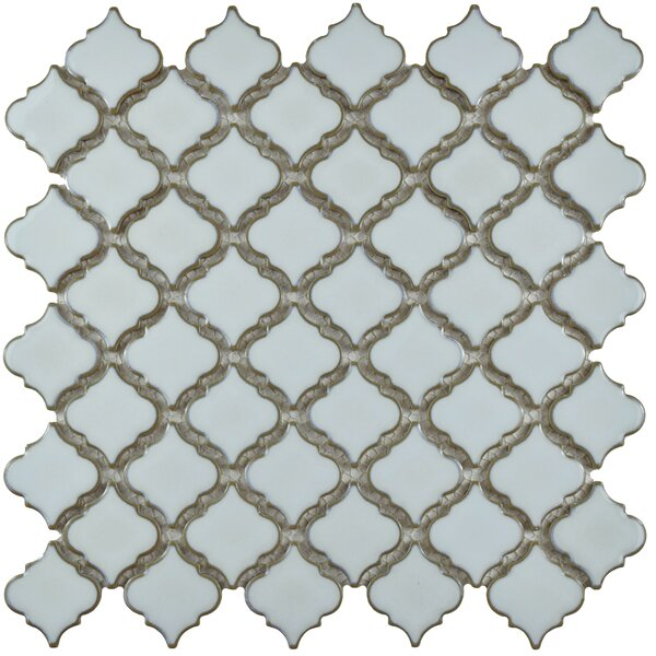 Pharsalia 12.38 x 12.5 Porcelain Mosaic Floor and Wall Tile in Silk White by EliteTile