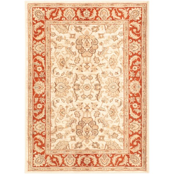 Lotus Garden Champagne/Ivory Area Rug by ECARPETGALLERY