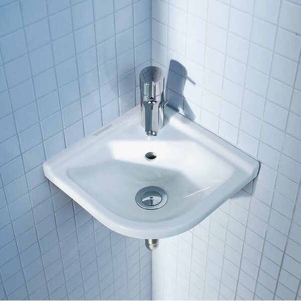 Starck 3 Ceramic 17 Corner Bathroom Sink with Overflow by Duravit