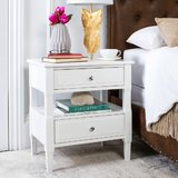 Jerry 2 - Drawer Solid Wood Nightstand by Latitude Run®