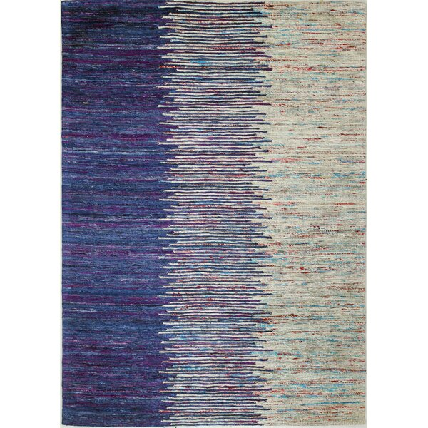 Broughshane Hand Woven Blue/Ivory Area Rug by Ivy Bronx