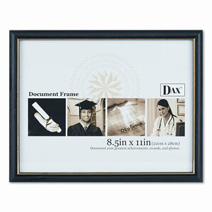 Two-Tone Document/Diploma Wood Frame, 8.5