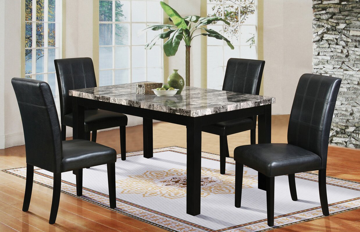 5 Piece Dining Sets latitude run cahill 5 piece dining set & reviews | wayfair