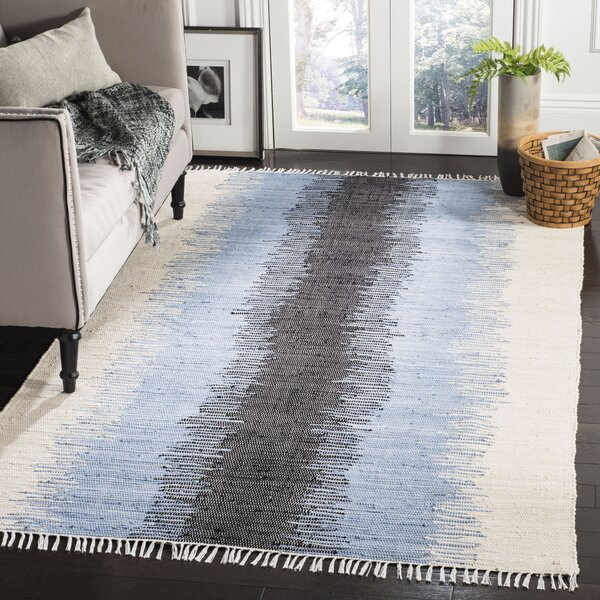 Ona Hand-Woven Cotton Area Rug by Beachcrest Home