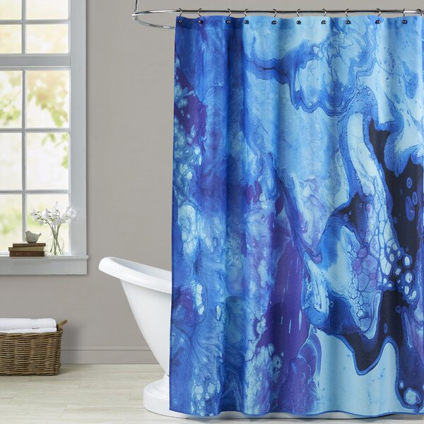 Deb McNaughton Bubbles Shower Curtain by Brayden Studio