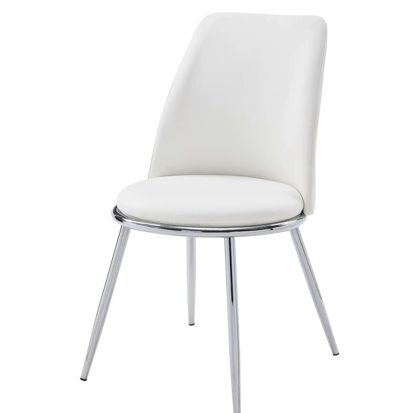 Kutlay Upholstered Metal Side Chair In White (Set Of 2) By Ebern Designs