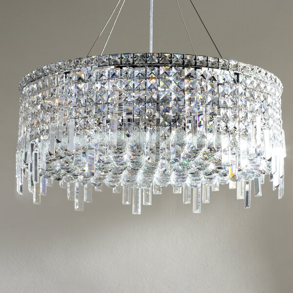 Anjali 12 - Light Shaded Drum Chandelier By Willa Arlo Interiors