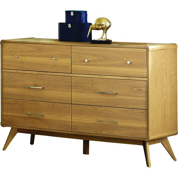 Aspen 6 Drawer Double Dresser by Modern Rustic Interiors
