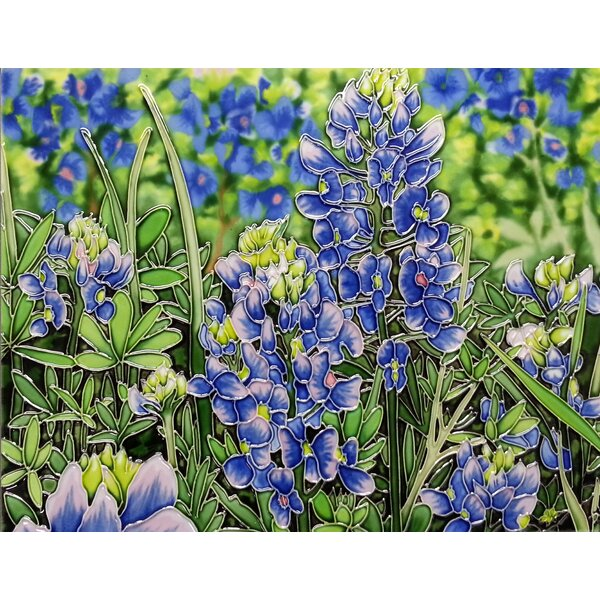 Blue Bonnets Tile Wall Decor by Continental Art Center