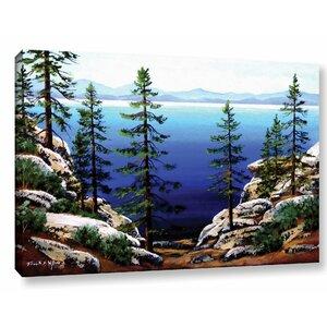 Across Lake Tahoe Painting Printt on Wrapped Canvas by Loon Peak