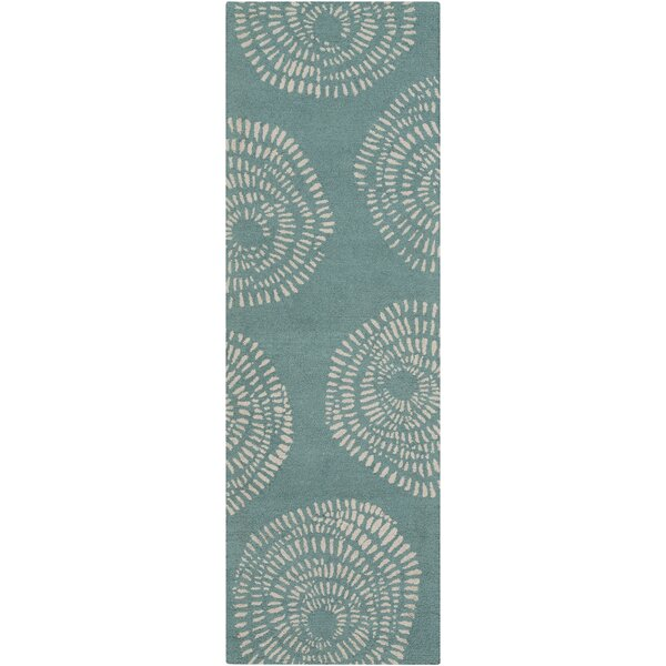 Decorativa Teal Floral Area Rug by Lotta Jansdotter