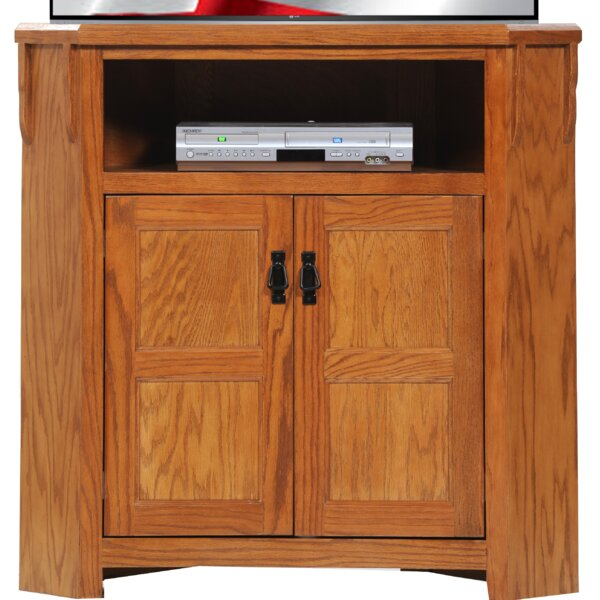 Adriel Solid Wood TV Stand For TVs Up To 43