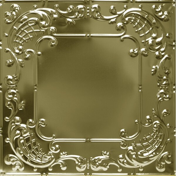 24 x 24 Metal Tile in Brass by Shanko