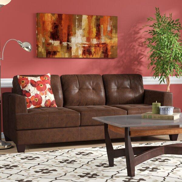 Wellhead Leather Sofa by Red Barrel Studio
