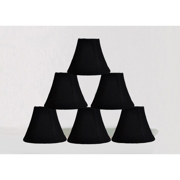 6 Burlap Bell Candelabra Shade (Set of 6) by Bloomsbury Market