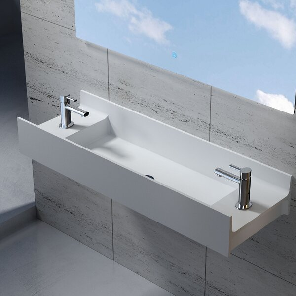 Rectangular Stone 47 Wall Mount Bathroom Sink by InFurniture