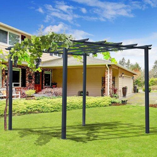 Arkose 3m x 3m Metal Pergola Sol 72 Outdoor