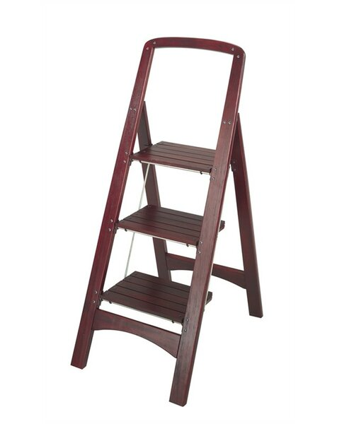 Cosco Home and Office Rockford 3-Step Wood Step Stool with 225 lb. Load Capacity u0026 Reviews | Wayfair  sc 1 st  Wayfair & Cosco Home and Office Rockford 3-Step Wood Step Stool with 225 lb ... islam-shia.org