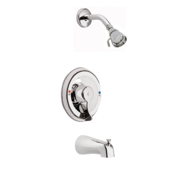 Commercial Pressure Balancing Tub and Shower Faucet Trim with Lever Handle and Posi-Temp by Moen Moen