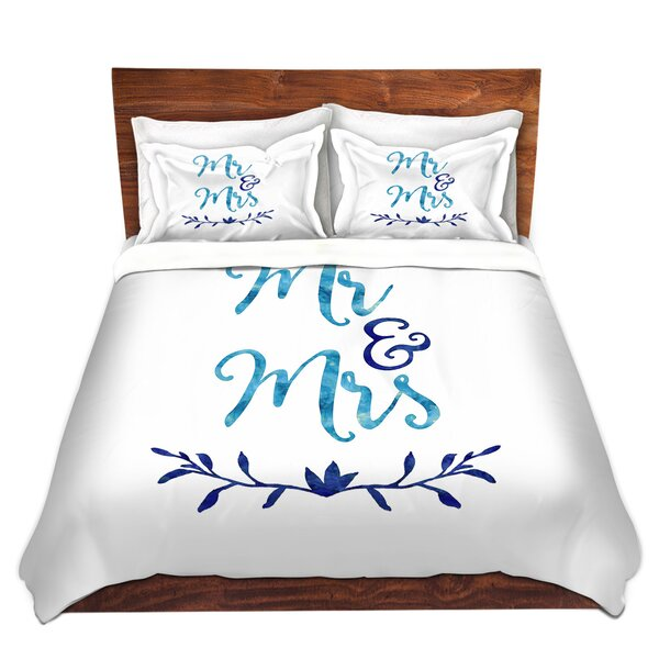 Mateer Zara Martina Mr. And Mrs. Blues Microfiber Duvet Covers