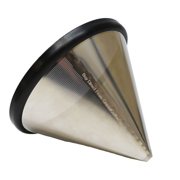Washable and Reusable Stainless Steel Cone Coffee Filter by Crucial