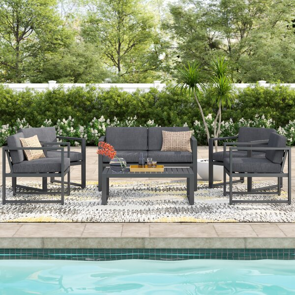 Mirando 6 Piece Sofa Seating Group with Cushions by Mercury Row